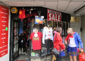 They'd found a Fancy Dress shop sale, round the corner